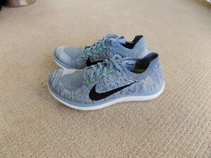 Dificil agudo pasajero  NEW WOMENS 6.5 7.5 NIKE FREE 4.0 FLYKNIT RUNNING SHOES BLUE GREY BLACK  717076 | eBay