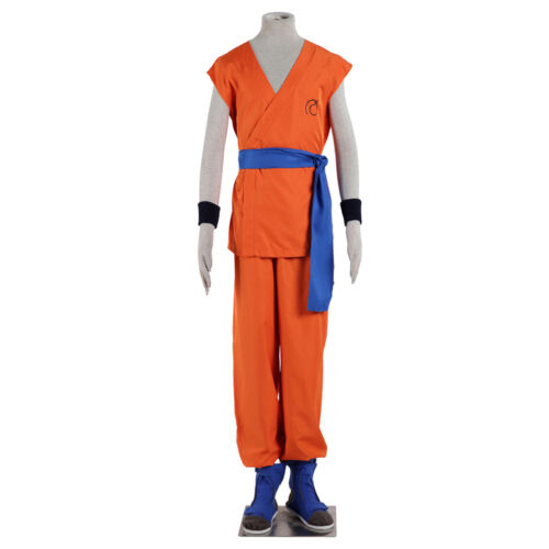 Exclusive Dragon Ball Z GoKu Cosplay Costume Uniforms and Cos Shoes Complete