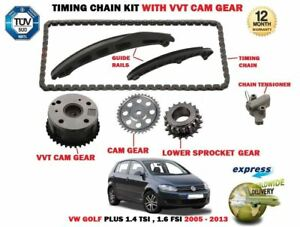 FOR-VW-GOLF-PLUS-1-4-TSI-1-6-FSI-2005-gt-TIMING-CHAIN-TENSIONER-KIT-VVT-GEAR