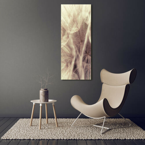 Wand-Bild Kunstdruck aus Hart-Glas Hochformat 50x125 Pusteblume