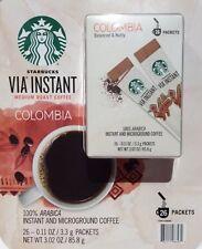 Starbucks VIA Colombia Medium Roast Instant Coffee 26 packs ARABICA ☆ Free Ship