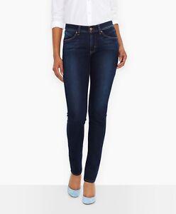 Levi S Revel Alta Para Mujer Rise Stretch Demi Curve Skinny Jeans 27 Dark Wash Ebay