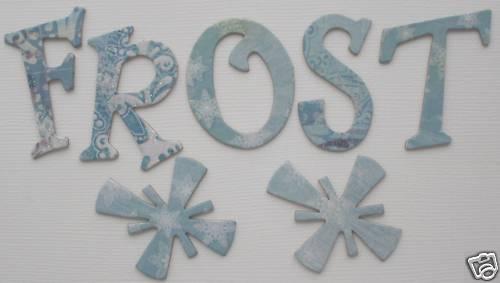 Bo Bunny *SNOWY SERENADE* Chipboard Letters NEW