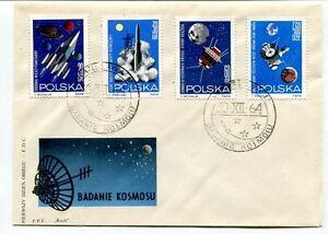 1964 Badanie Kosmosu Polska Pierwszy Dzien Obiegu Fdc Warszawa Space Nasa