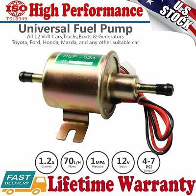 Standard 8mm Universal 4-7PSI 12 Volt Inline Electric Fuel Pump Self-priming US