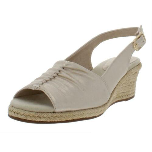 Details about  /Easy Street Womens Kindly Gold Wedge Espadrilles Shoes 8 Narrow AA,N BHFO 6683