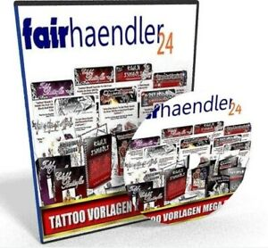 CD-VERSAND: TATTOO VORLAGEN MEGA-PACK Nischen Pack Tätowierung Tattoos E-LIZENZ