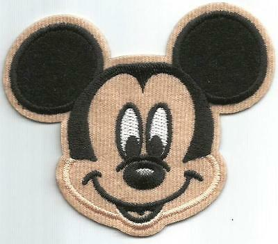 Mickey Mouse Head Character - Sew-on / Iron-on Cloth Patch