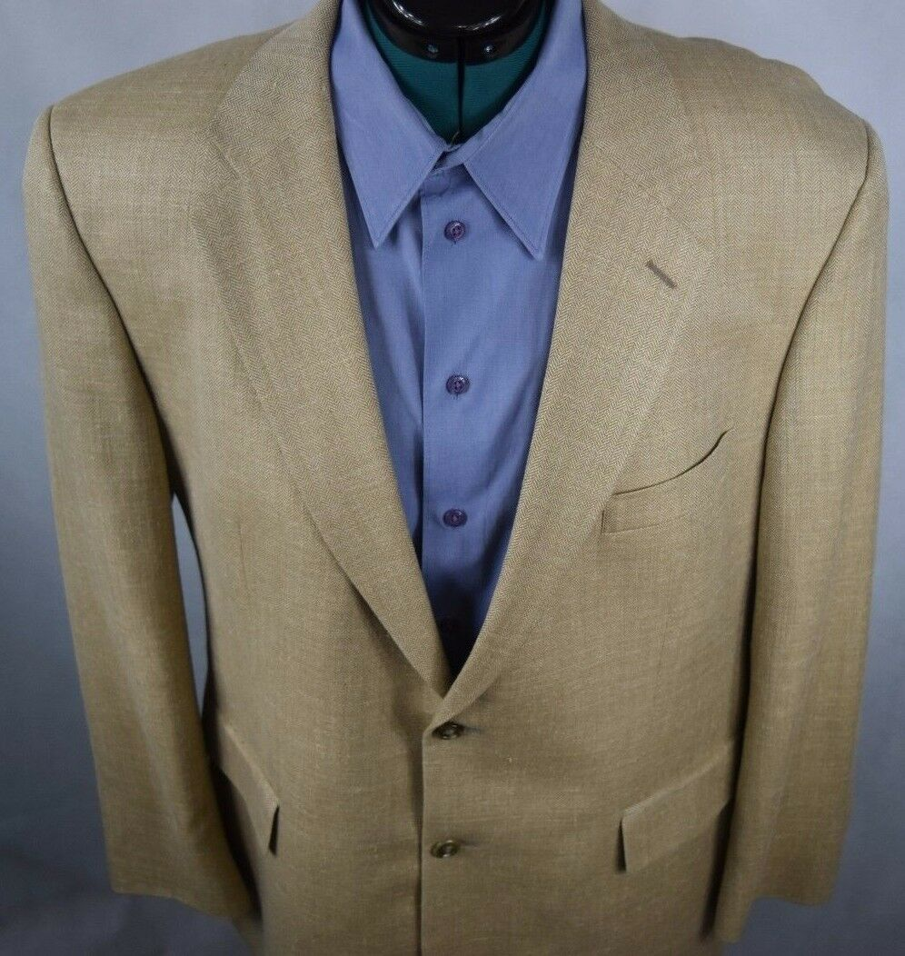 Brooks Brothers 346 tan 2 button tweed Herren sport coat Größe 45R Vintage