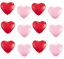 Pack-20-Red-Pink-Love-Heart-Shape-Balloons-Wedding-Hen-Night-Party-Anniversary thumbnail 2