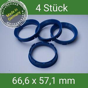FZ-60-Zentrierringe-blau-66-6-x-57-1-VW-AUDI-SEAT-SKODA-MERCEDES