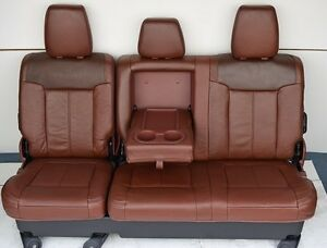 2011 2014 ford f250 f350 f450 super duty king ranch rear seat 60 40 ebay. Black Bedroom Furniture Sets. Home Design Ideas