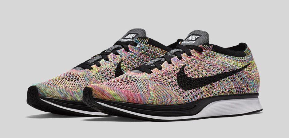 Nike flyknit farbige rennfahrer 3.0 graue zunge größe 13 - 526628-004 laufen neue