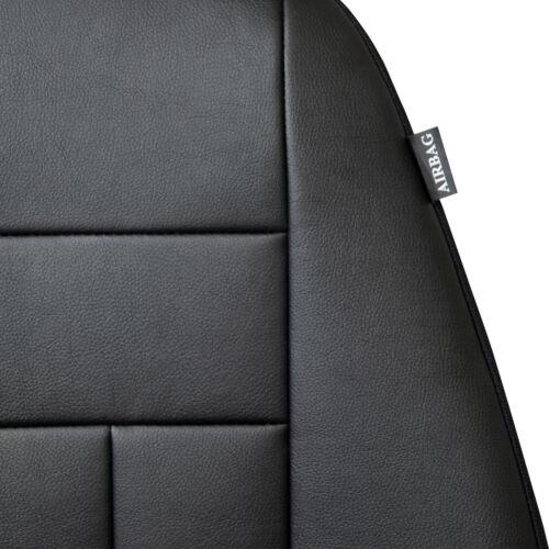 Maßgefertigte Vordersitzbezüge Kunstleder Schwarz für Volkswagen Polo