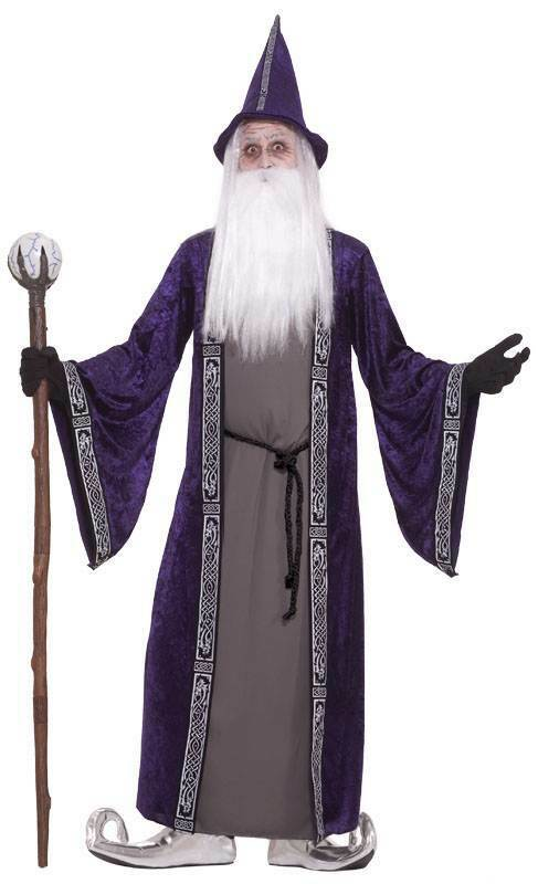 WIZARD MENS COSTUME / ROBE, MENS WIZARD HALLOWEEN / MAGICIEN COSTUME DE DÉGUISEMENT FR 526131