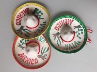 Set Of 5 Mexican Mini Charro Hats, Party Favors, Decorations, Mariachi Sombrero