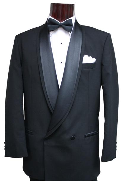 Oscar De La Renta Black Wool Tuxedo D.B. Double Breasted All Sizes Coat Pants