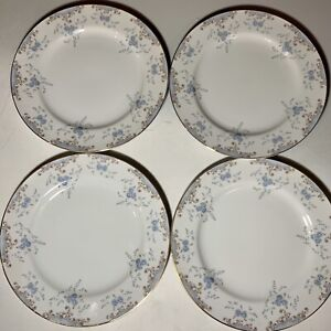 "Vtg Imperial China W. Dalton Seville 5303 Dinner Plate 10 1/4"" Japan Set Of 4"