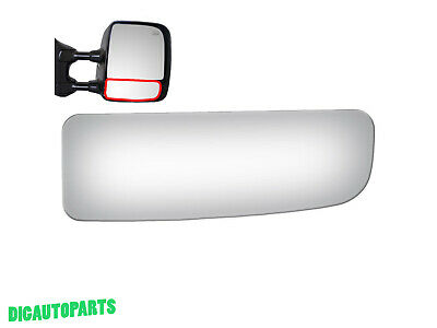 Fits 04-15 Titan Right Passenger Upper Tow Type Mirror Glass Lens w//Ahesive