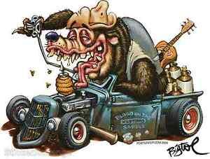Hotrod-Bear-Sticker-Decal-Artist-Big-Toe-BT14