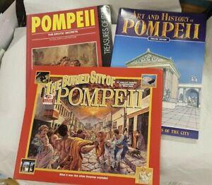 3 books on Pompeii: Buried City, Erotic Secrets, Art & History. Adult references