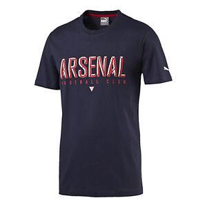 Image is loading PUMA-Men-039-s-Arsenal-Fan-Tee-Black-