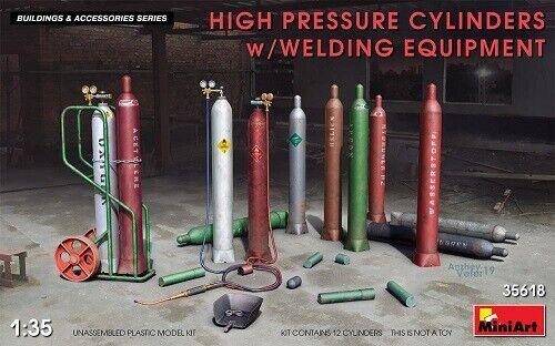 Miniart 35618-1:35 High Pressure Cylinders w//Welding Equipment Neu