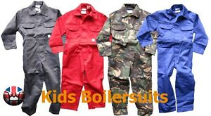 WWK-Kids-Childrens-Boilersuit-Overall-Coverall-Girls-Boys-jumpsuit-4-colours-NEW