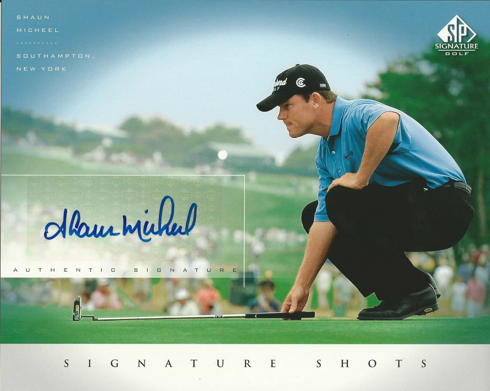 Shaun Micheel Signed SP Signature Shots 8x10 Photo