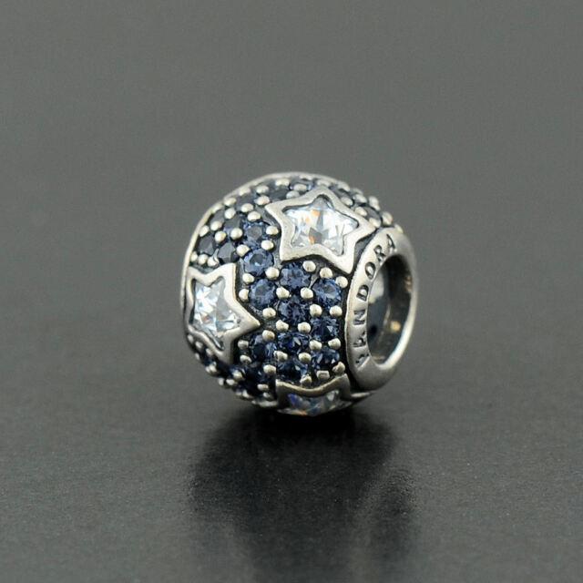Authentic Genuine Pandora Midnight Blue Follow the Stars Charm - 791382CZ