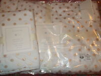 Pottery Barn Kids Gold Dot Nursery Crib Quilt, Toddler, 1 Crib Sham,