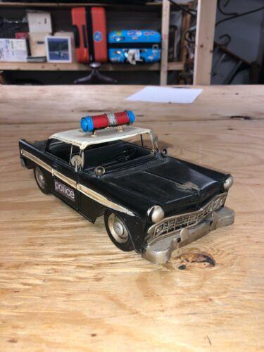 Miniature Replica Police Car Figurine