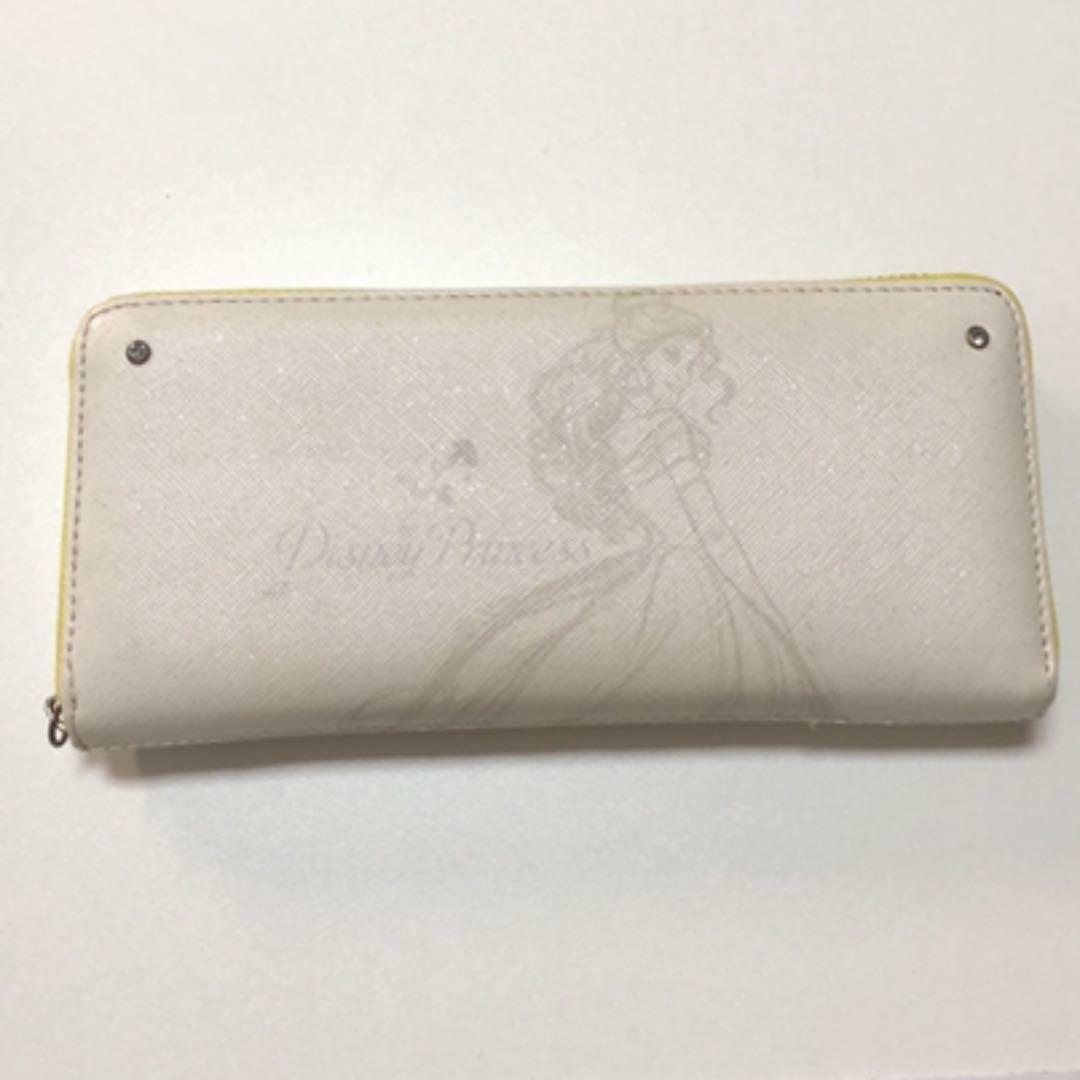 Disney Long Wallet Weekend Sale Princess Belle Round Zipper White Ladies