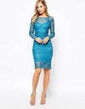 Body Frock Lisa Dress in Topaz (Blue)UK 10) RRP £180