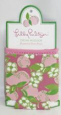 Lilly Pulitzer Drink Hugger Coosie Coolie Featured in Tootie Fruity PInk Green