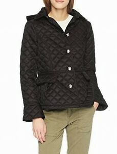 Tommy Hilfiger Womens Button Front Black Size Small S Quilted Jacket $139 945