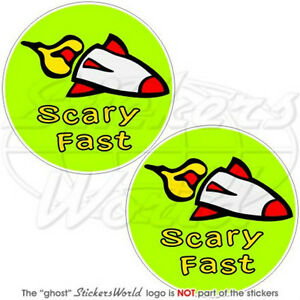 SCARY-FAST-Cycling-BIKE-Bicycle-4-7-034-Bumper-Stickers-x2