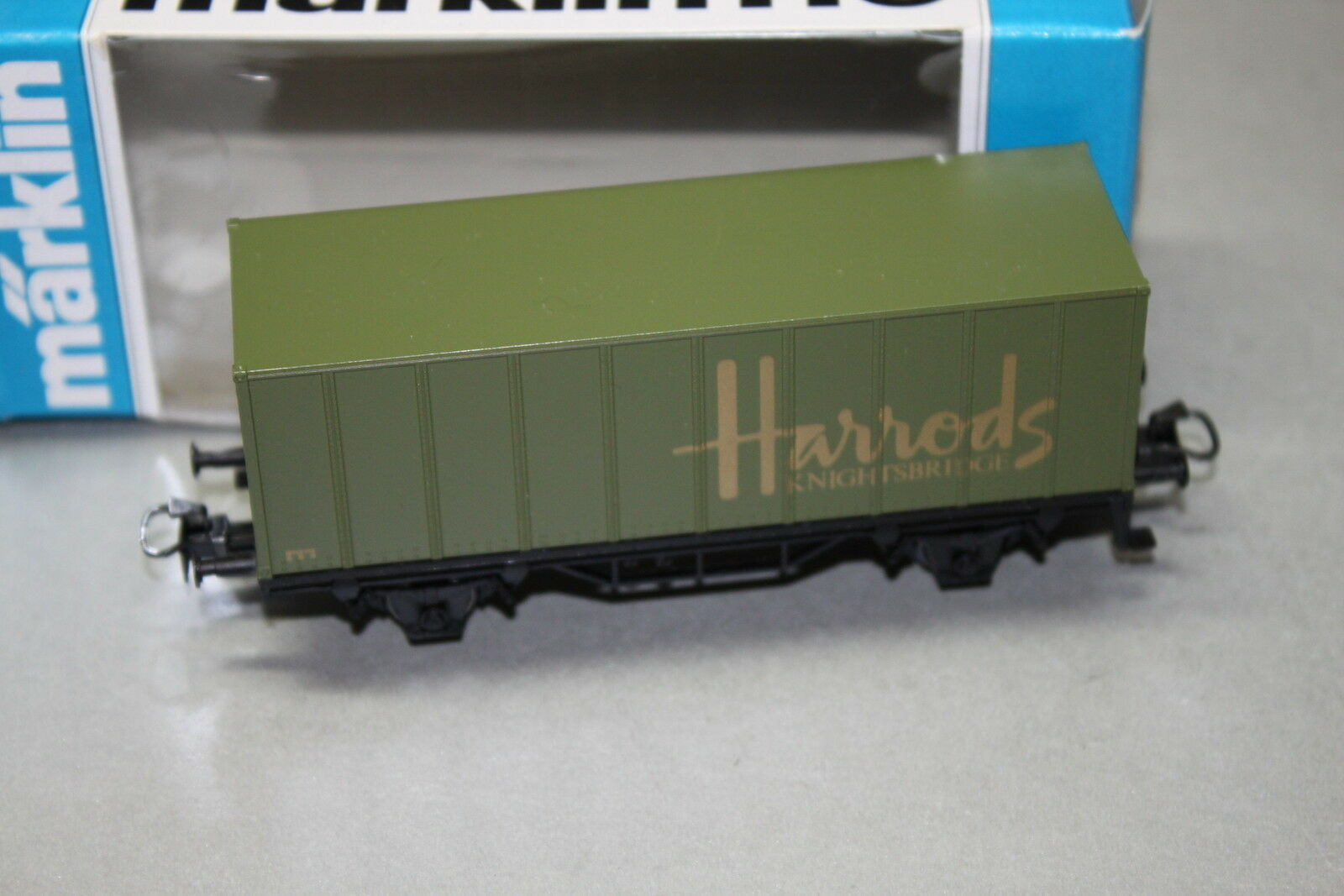 Märklin 92502 2-Camion Container Carrello  HARRODS KNIGHTSBRIDGE  traccia h0 OVP