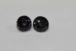 COLOUR-CHANGE-GARNET-5-5X5-5MM-ROUNDS-PAIR-EXOTIC-COLLECTION-NEVER-SEEN