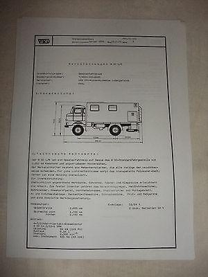 Ddr Gutherzig Ddr Werbung Reklame Prospekt Datenblatt Werkstattwagen W 50 L/w Veb Ifa 1981 Literatur