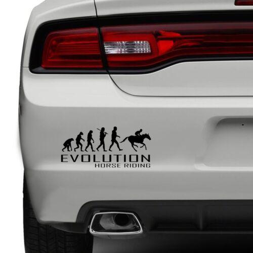 Evolution Of Horse Riding Car Bumper Sticker Ride Jockey Tail Funny Vinyl Window