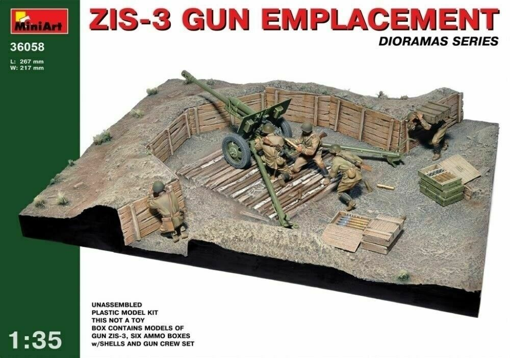 Emplacement MIN36058 Gun ZIS-3 - kit model scale 35 1
