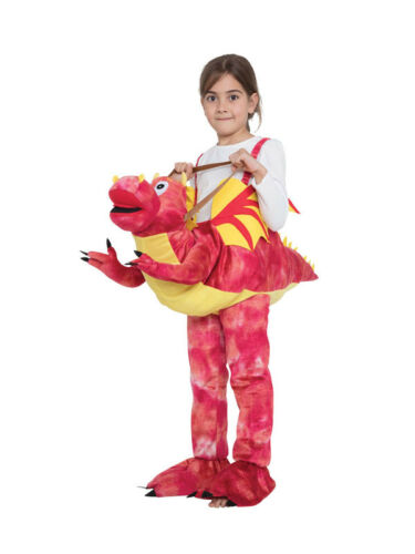 Childs Kids Boys Girls Step In Ride On Riding Flying Dragon Fancy Dress Costume