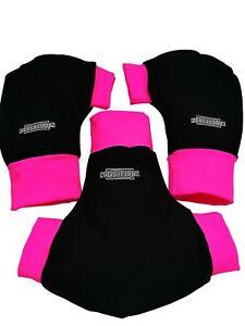 Ruderhandschuhe-pink-schwarz-mit-Aufdruck-Rudern-Rowing-Poggies-Set