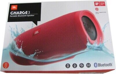 JBL Charge 3 Portable Bluetooth Stereo Speaker Red JBLCHARGE3REDAM
