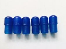 6 x Blue Plastic Translucent Endcaps Ulma Vigano Ardor for 12mm Tube Trans Blue