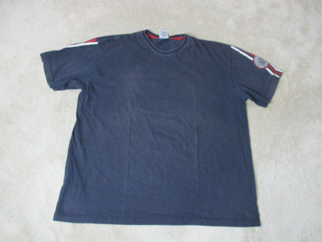 f031875a6 VINTAGE Tommy Hilfiger Shirt Adult 2XL XXL Blue Red Crest Spell Out Mens 90s  *