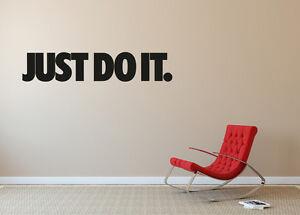 Nike Just Do It Logo Vinyl Decal Sticker Wall Decal Construction - Custom vinyl wall decal equipment