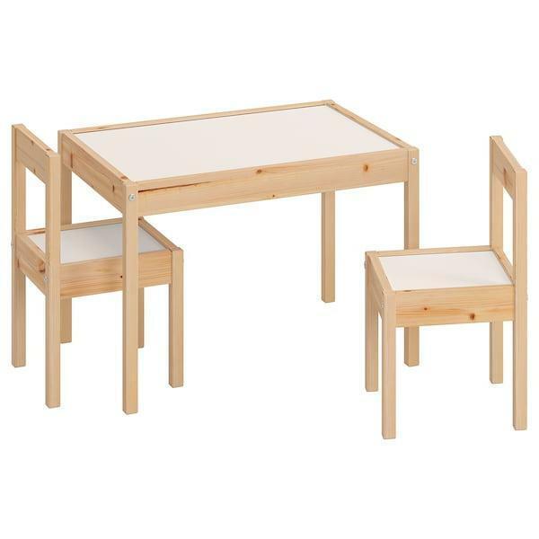 Ikea Tavoli E Sedie Per Giardino.Ikea Latt Tavolo Per Bambini Set Con 2 Sedie Mobili Arredamento