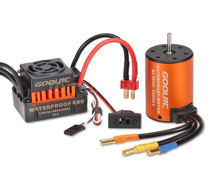 Rc Car Brushless Esc Motor For 1/10 Hpi E-Firestorm Blitz Sprint 2 Rs4 Jumpshot